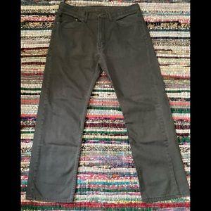 Levi's 505 Jeans Charcoal Gray Jeans Sz 36